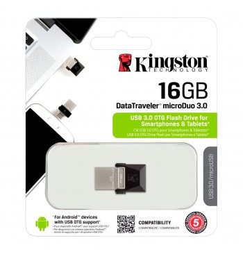 Pendrive for Smartphone 16GB (3.0) Micro KINGSTON