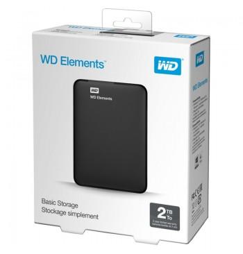 Harddisk USB 2TB (3.0) WD